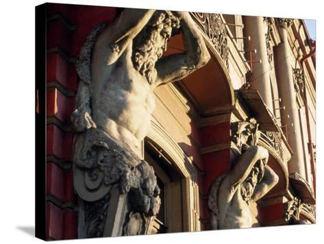 Detail of Building, St. Petersburg, Russia-Jeff Greenberg-Stretched Canvas Print