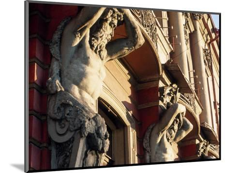 Detail of Building, St. Petersburg, Russia-Jeff Greenberg-Mounted Photographic Print