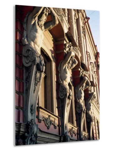 Detail of Building, St. Petersburg, Russia-Jeff Greenberg-Metal Print