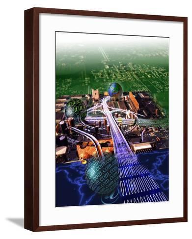 Information Superhighway-Jon Riley-Framed Art Print