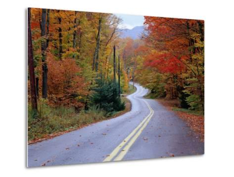 Hollywood Rd at Route 28, Adirondack Mountains, NY-Jim Schwabel-Metal Print