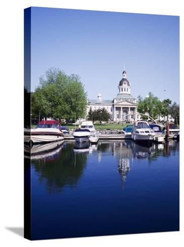 City Hall and Marina, Kingston Ontario, Canada-Mark Gibson-Stretched Canvas Print