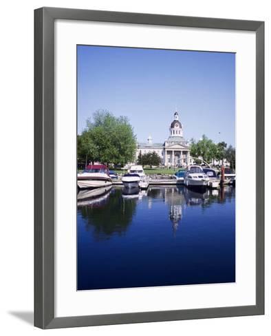 City Hall and Marina, Kingston Ontario, Canada-Mark Gibson-Framed Art Print