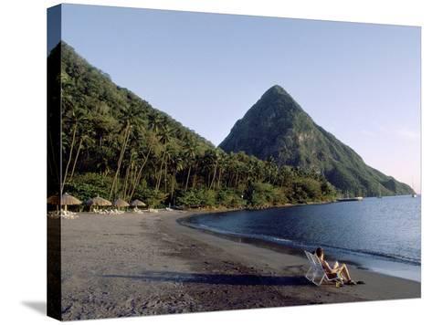 Jalousie Bay, Petit Piton, St. Lucia--Stretched Canvas Print