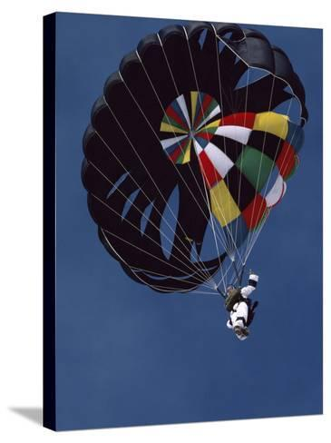 Skydiver with Parachute--Stretched Canvas Print