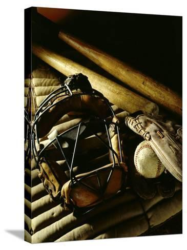 Baseball Still Life--Stretched Canvas Print