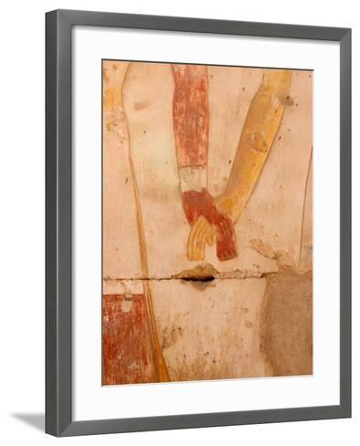 Wall Painting of Figures Holding Hands, Egypt-Michele Molinari-Framed Art Print