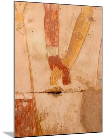 Wall Painting of Figures Holding Hands, Egypt-Michele Molinari-Mounted Photographic Print