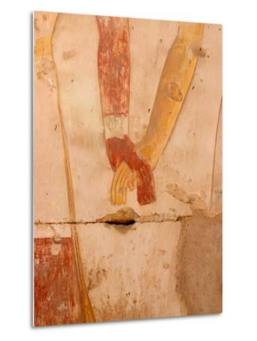 Wall Painting of Figures Holding Hands, Egypt-Michele Molinari-Metal Print