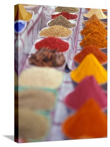 Colorful Spices in the Aswan Market, Egypt-Stuart Westmoreland-Stretched Canvas Print