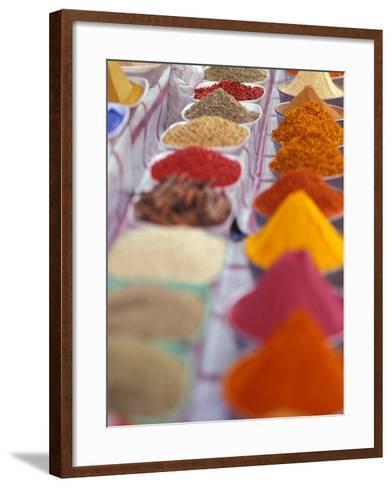 Colorful Spices in the Aswan Market, Egypt-Stuart Westmoreland-Framed Art Print