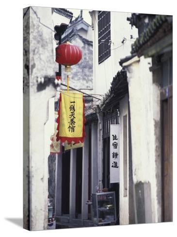 Traditional Architecture in Ancient Watertown, China-Keren Su-Stretched Canvas Print