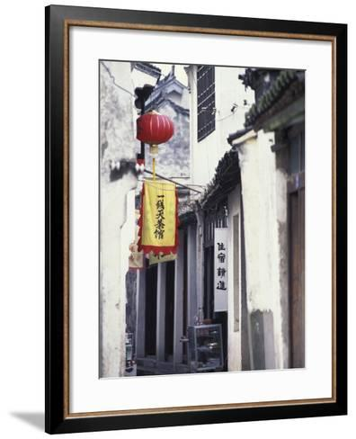 Traditional Architecture in Ancient Watertown, China-Keren Su-Framed Art Print