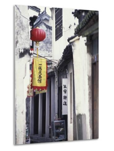 Traditional Architecture in Ancient Watertown, China-Keren Su-Metal Print