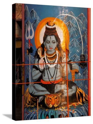 Vishnu Hindu God Mural, India-Dee Ann Pederson-Stretched Canvas Print
