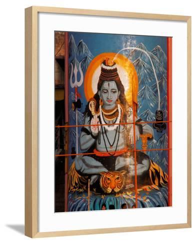 Vishnu Hindu God Mural, India-Dee Ann Pederson-Framed Art Print
