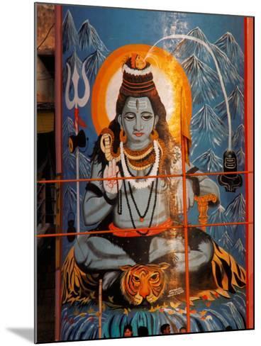 Vishnu Hindu God Mural, India-Dee Ann Pederson-Mounted Photographic Print