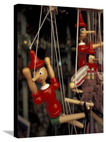 Marionette, Pinocchio Puppet, Taormina, Sicily, Italy-Connie Ricca-Stretched Canvas Print