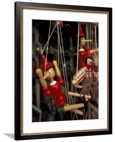 Marionette, Pinocchio Puppet, Taormina, Sicily, Italy-Connie Ricca-Framed Art Print