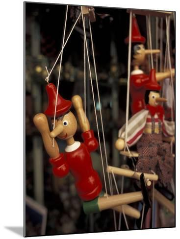 Marionette, Pinocchio Puppet, Taormina, Sicily, Italy-Connie Ricca-Mounted Photographic Print