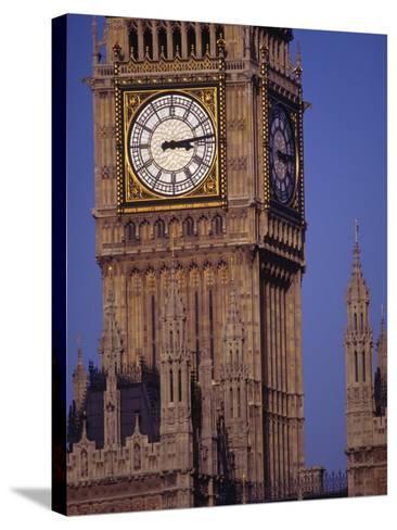 Big Ben Clock Tower, London, England-Robin Hill-Stretched Canvas Print