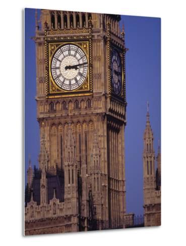 Big Ben Clock Tower, London, England-Robin Hill-Metal Print