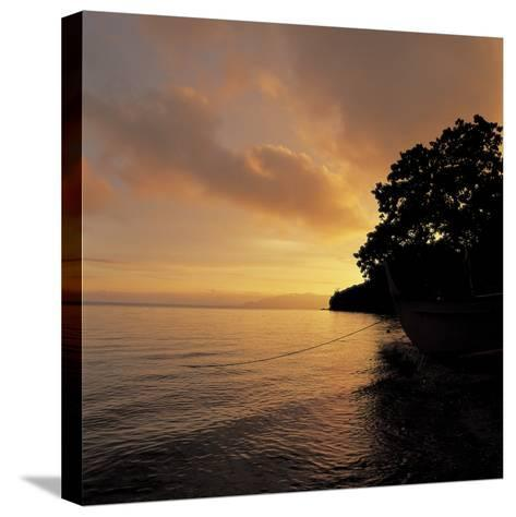Sunset over a Sea--Stretched Canvas Print