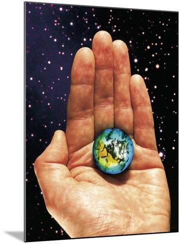 Hand Holding the World-Terry Why-Mounted Photographic Print
