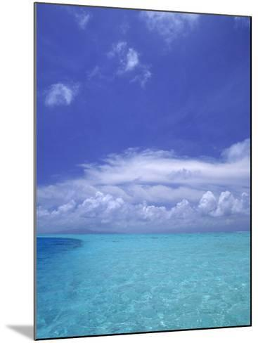 Water and Sky, Bora Bora, Pacific Islands-Mitch Diamond-Mounted Photographic Print