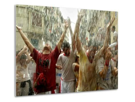Chupinazo the Official Opening of the 2005 San Fermin Fiestas--Metal Print