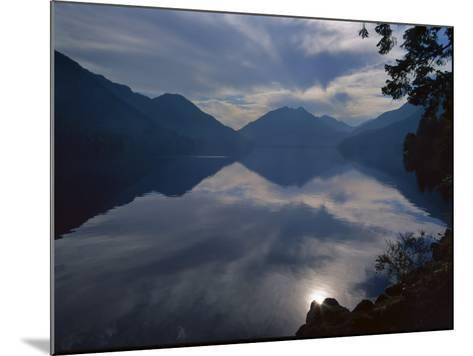 Rising Run Reflects in Lake Crecent, Olympic National Park, Washington, USA-Jerry Ginsberg-Mounted Photographic Print