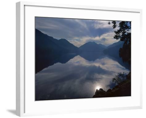 Rising Run Reflects in Lake Crecent, Olympic National Park, Washington, USA-Jerry Ginsberg-Framed Art Print