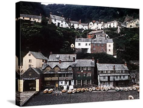 Coastal Town of Clovelly on Coast of North Devon West of Bideford--Stretched Canvas Print