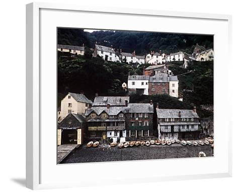 Coastal Town of Clovelly on Coast of North Devon West of Bideford--Framed Art Print
