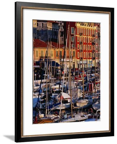 Boats in the Harbour at Bassin Lympia, Nice, France-Richard I'Anson-Framed Art Print