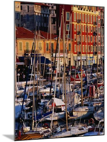 Boats in the Harbour at Bassin Lympia, Nice, France-Richard I'Anson-Mounted Photographic Print