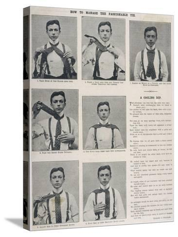 How to Tie the Ascot Necktie--Stretched Canvas Print