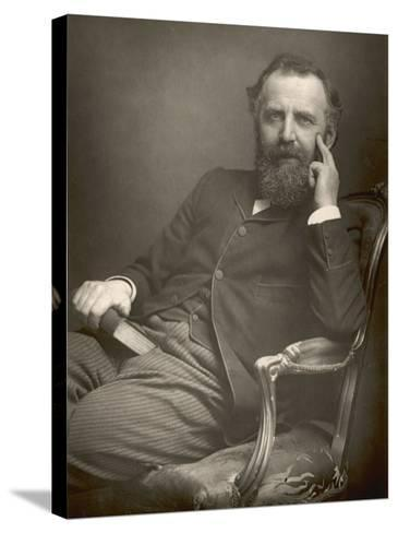 William Thomas Stead English Journalist in 1893-W&d Downey-Stretched Canvas Print