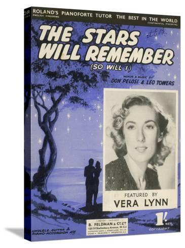 Vera Lynn Popular English Singer: The Stars Will Remember--Stretched Canvas Print