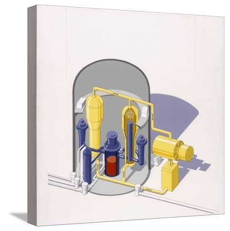 A Painting of an Improved Reactor Design by Pierre Mion-Pierre Mion-Stretched Canvas Print