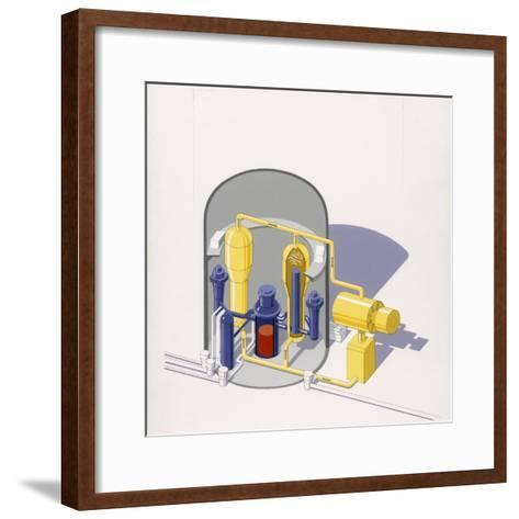 A Painting of an Improved Reactor Design by Pierre Mion-Pierre Mion-Framed Art Print