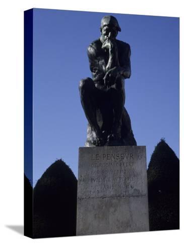 The Thinker by French Sculptor Rodin, Paris, France-Taylor S^ Kennedy-Stretched Canvas Print