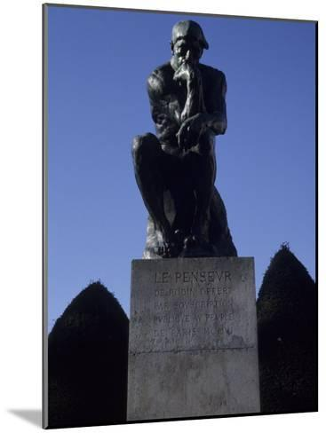The Thinker by French Sculptor Rodin, Paris, France-Taylor S^ Kennedy-Mounted Photographic Print