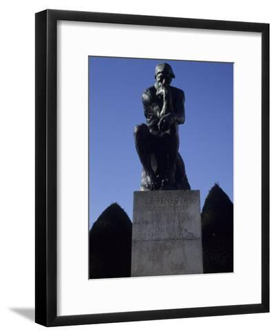 The Thinker by French Sculptor Rodin, Paris, France-Taylor S^ Kennedy-Framed Art Print
