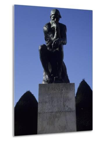 The Thinker by French Sculptor Rodin, Paris, France-Taylor S^ Kennedy-Metal Print