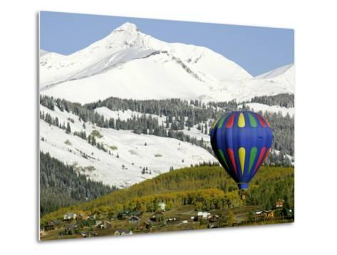 One of the Twelve Hot Air Balloons Takes Flight at Mount Crested Butte, Colorado--Metal Print