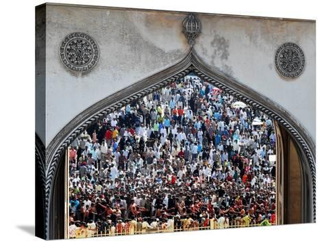 Indian Shiite Muslims Flagellate Themselves During a Procession, Hyderabad, India, January 30, 2007-Mahesh Kumar-Stretched Canvas Print