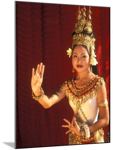 Traditional Dancer and Costumes, Khmer Arts Dance, Siem Reap, Cambodia-Bill Bachmann-Mounted Photographic Print