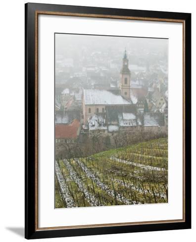 View of Alsatian Wine Village, Riquewihr, Haut Rhin, Alsace, France-Walter Bibikow-Framed Art Print