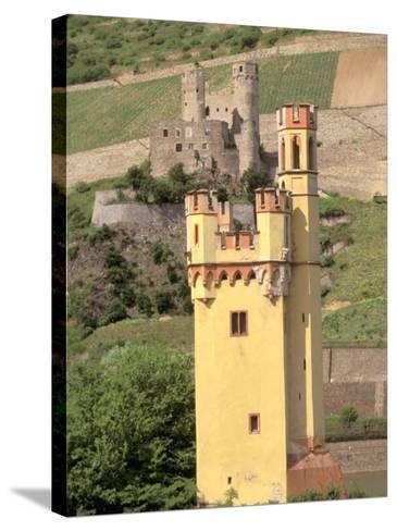 The Mauseturm, Former Customs House, Bingen, Pfalz, Rhineland, Germany-Walter Bibikow-Stretched Canvas Print